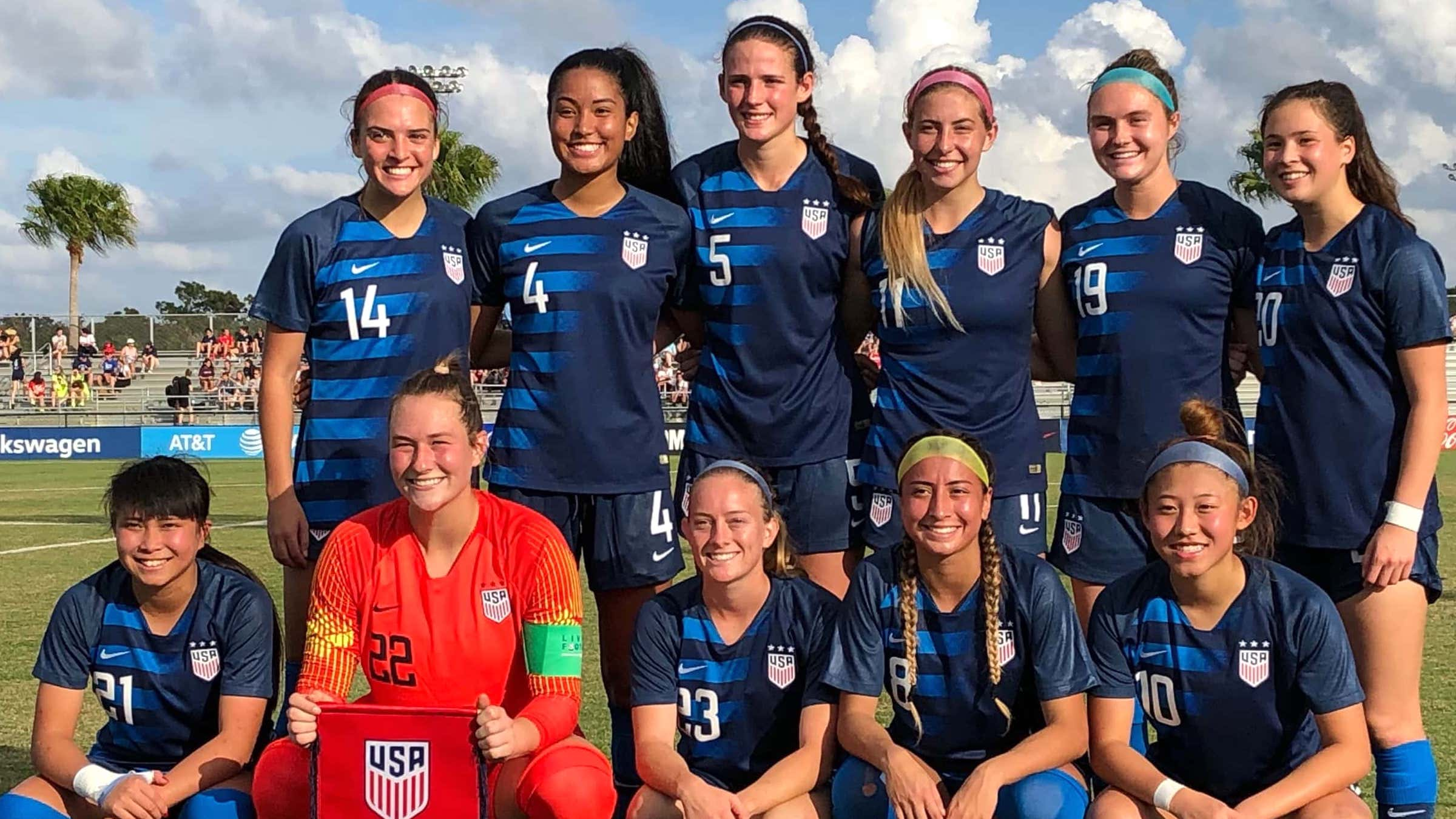 Three WCFC Players join US U20 Women's National Team Nike Friendlies Tournament